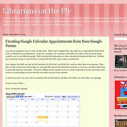 Creating Google Calendar Appointments from Your Google Forms