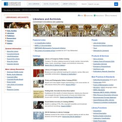LC: Resources for Librarians and Archivists
