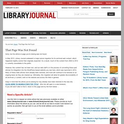 Librarians to Ebook Creators and Sellers: Library Model Needed - 5/26/2010 - Library Journal