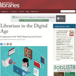 Librarians in the Digital Age