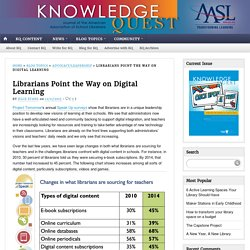 Librarians Point the Way on Digital Learning