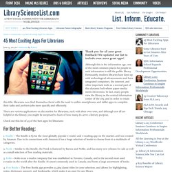 25 Most Popular Apps Used By Librarians | LibraryScienceList.com