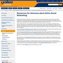 Resources for Librarians about Online Social Networking