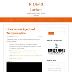 Librarians as Agents of Transformation
