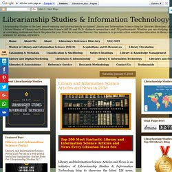 Librarianship Studies & Information Technology: Library and Information Science Articles and News in 2018