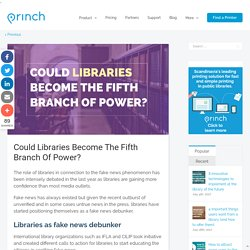 Could Libraries Become The Fifth Branch Of Power?