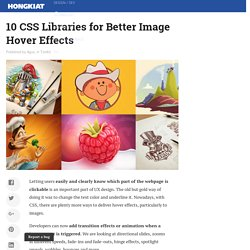 10 CSS Libraries for Better Image Hover Effects