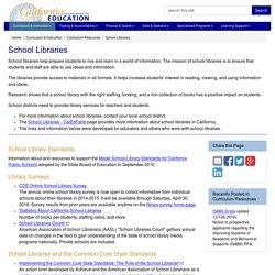 School Libraries - Curriculum Resources