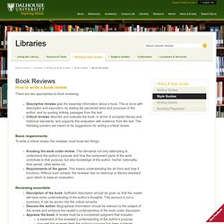 Book Reviews - Libraries - Dalhousie University
