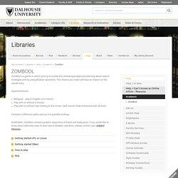 ZomBool - Libraries - Dalhousie University