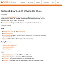 Clients Libraries and Developer Tools — RabbitMQ
