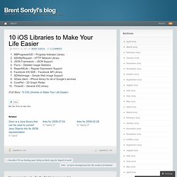10 iOS Libraries to Make Your Life Easier | Brent Sordyl's blog