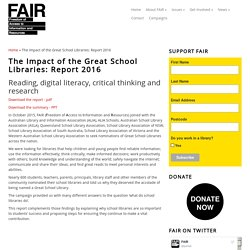 The Impact of the Great School Libraries: Report 2016