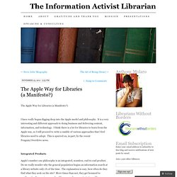 The Apple Way for Libraries (a Manifesto?)