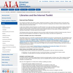 Libraries and the Internet Toolkit