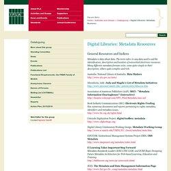 Digital Libraries: Metadata Resources