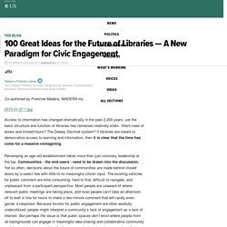 100 Great Ideas for the Future of Libraries