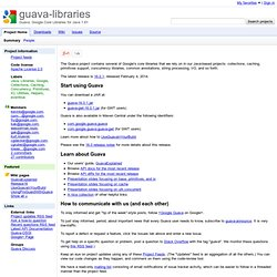 guava-libraries - Guava: Google Core Libraries for Java 1.6+