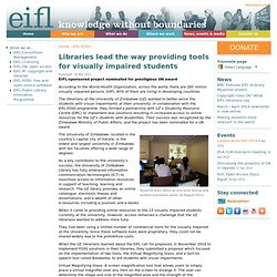 Libraries lead the way providing tools for visually impaired students