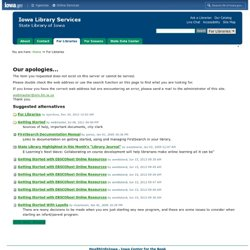 Getting Your Web Site Started — State Library of Iowa