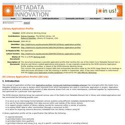 DC-Library Application Profile (DC-Lib)