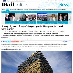 Library of Birmingham: Europe's largest public library is set to open in a matter of days