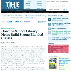 How the School Library Helps Build Strong Blended Classes