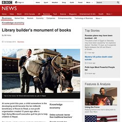 Library builder's monument of books
