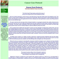 AFH LIBRARY - Cancer Cure Protocol