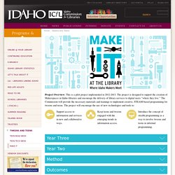 Make It at the Library: Where Idaho Makers Meet