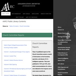 AARC Public Library - Church Committee Reports