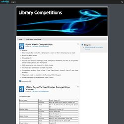 Library Competitions - Eatons Hill State School, Brisbane, Queensland, Australia