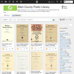 Allen County Public Library : Free Books : Free Texts : Download & Streaming