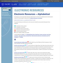 Emory Law: Electronic Resources