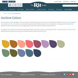 ColoRit Color Formula Guide | Rit Dye