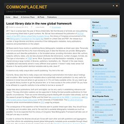 Local library data in the new global framework