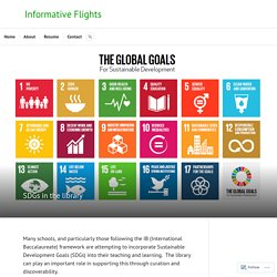 SDGs in the library – Informative Flights