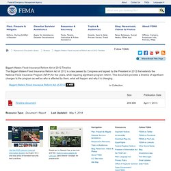 Library - Biggert-Waters Flood Insurance Reform Act of 2012 Timeline