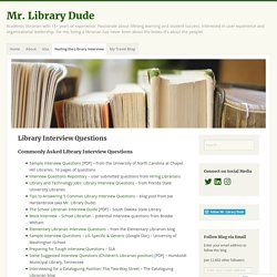 Library Interview Questions