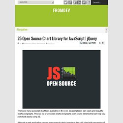 25 Open Source Chart Library for JavaScript