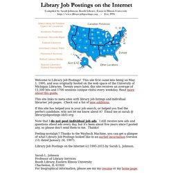 Library Job Postings on the Internet