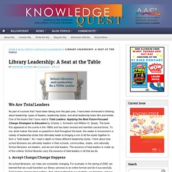 Library Leadership: A Seat at the Table