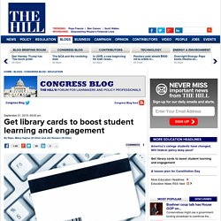 Get library cards to boost student learning and engagement