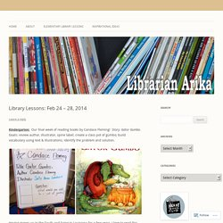 Library Lessons: Feb 24 – 28, 2014