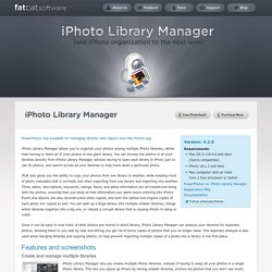 Fat Cat Software – iPhoto Library Manager