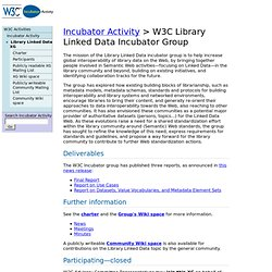 C Library Linked Data Incubator Group