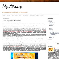 Une si longue lettre - Mariama Bâ
