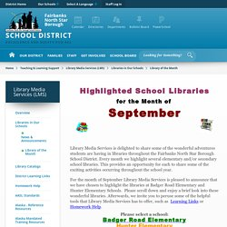 Library Media Services (LMS) / Library of the Month