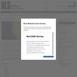 Find Your Library - National Library Service for the Blind and Print Disabled (NLS)