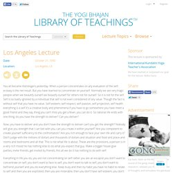 - Library of Teachings Lecture